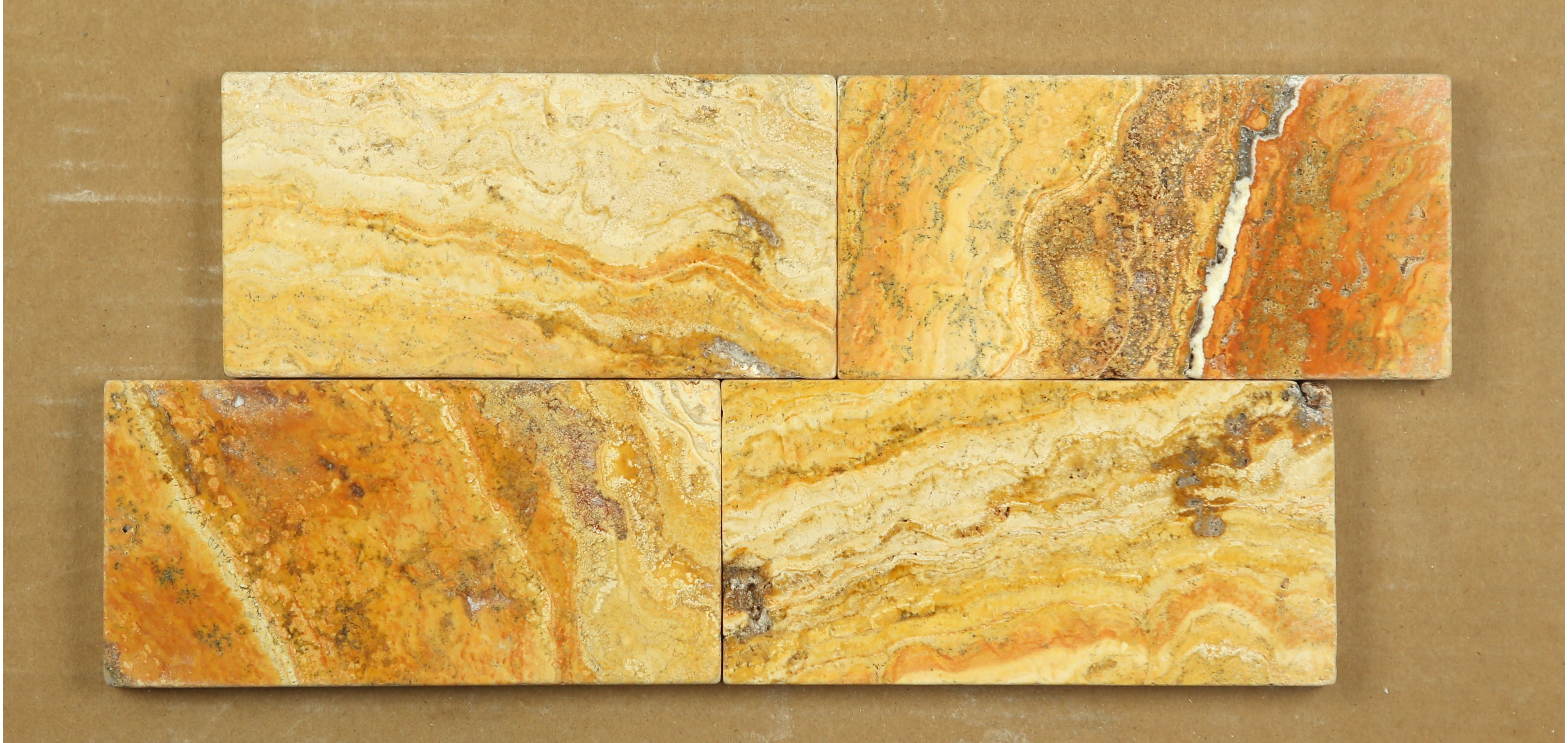 Scabos Tiles Scabos Travertine 3x6 Tumbled Subway Tile